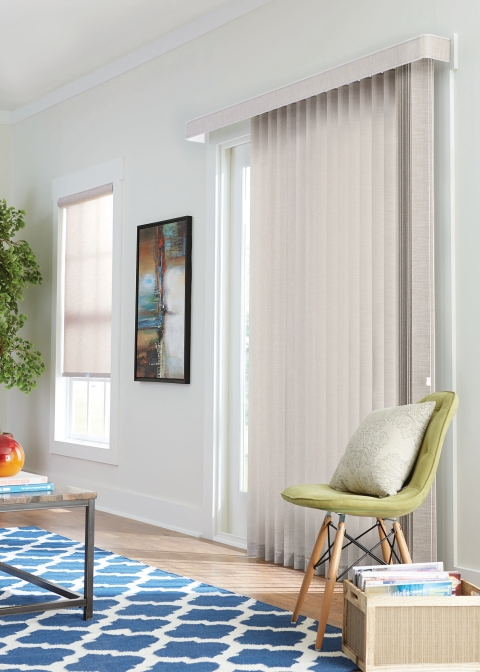 Fabric Vertical Living Room blinds
