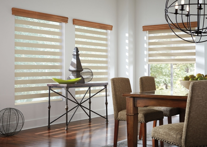 Layered Dining Room blind